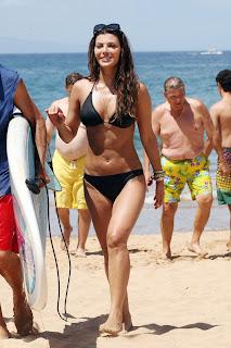 Ali Landry wearing a black Bikini