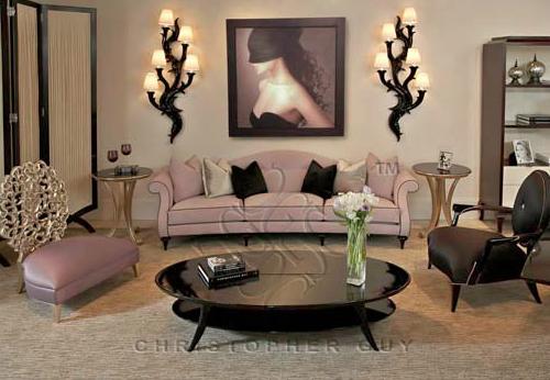 El blog de christopher guy dos salones elegantes y - Objetos decorativos salon ...