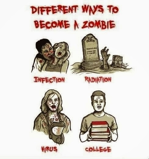 to become a zombie
