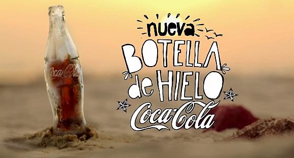 Garrafa de gelo Coca-Cola