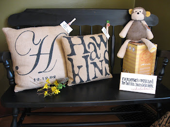 Personalized burlap pillows!