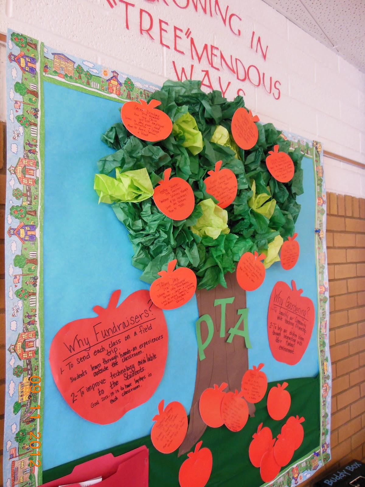 Apple Tree Classroom Ideas ~ Growing boys pta bulletin boards