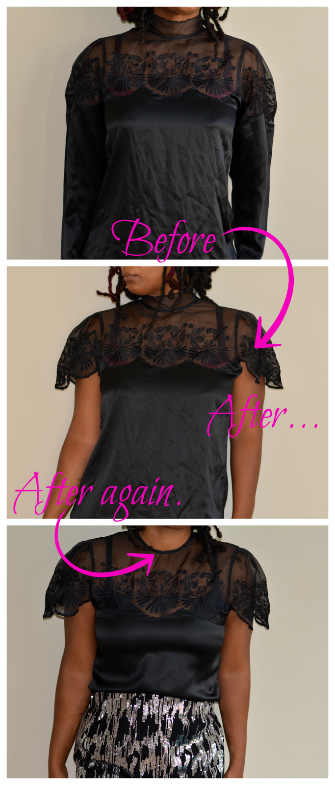 remove sleeves from blouse