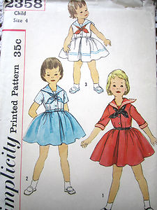 1950s sailor dress baby little girl vintage pattern  Just Peachy, Darling
