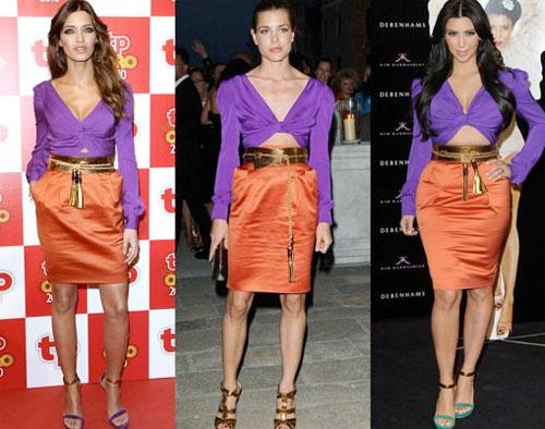 62f0f8fbe Muchas de las famosas han adoptado como tendencia de moda para esta  temporada al color block
