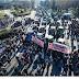 """ΧΑΜΟΣ στη Θεσσαλονίκη που """"βούλιαξε"""" από τρακτέρ!  Χημικά κατά των αγροτών. Ματαιώθηκαν τα εγκαίνια της «Agrotica»"""