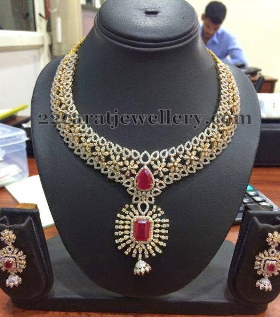 Jhumka Hanging Diamond Necklace