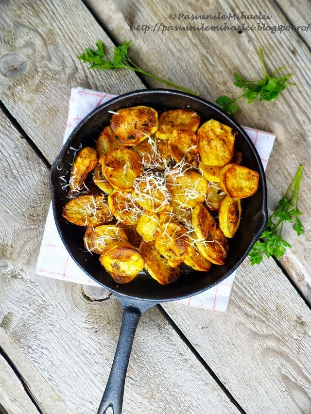 Cartofi crocanti la cuptor