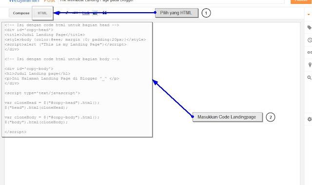 Trik Membuat Landing Page pada Blogger