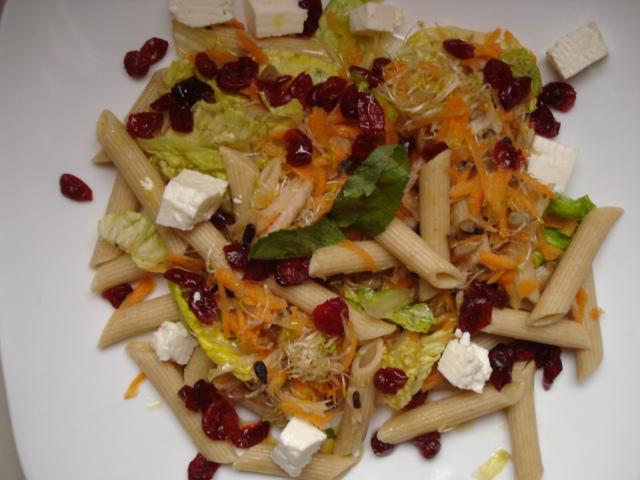 Nutricampeones ensalada multicolor con pasta integral for Ensalada de pasta integral