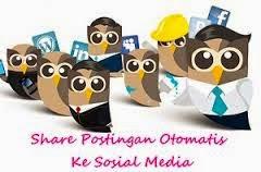 Cara Share Otomatis Postingan Ke Facebook & Twitter