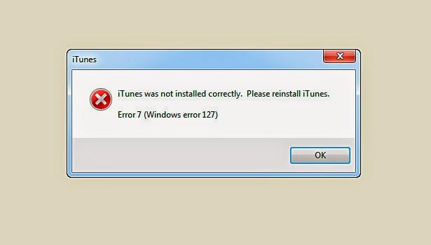 Windows error 127 - 5ce1