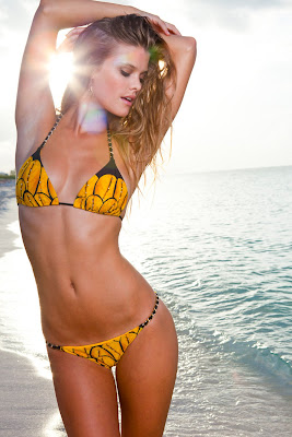 Nina Agdal Sauvage swimsuit 2013