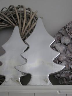 zilveren kerstbomen