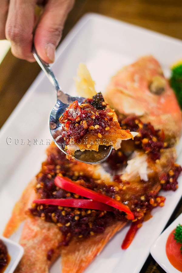 Pla Lard Prik - fried snapper with hot Thai Chili