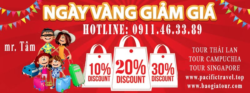 ngay vang giam gia discount pacific travel