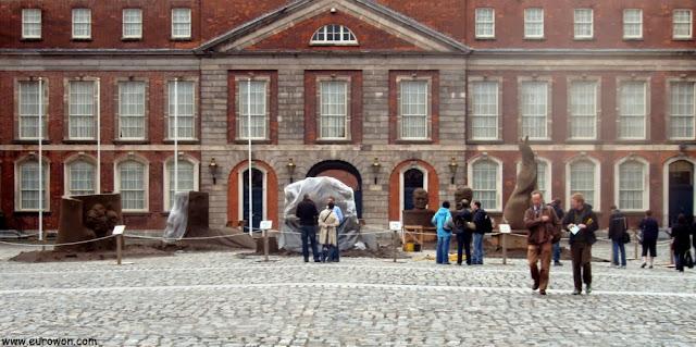 Figuras de arena en el Castillo de Dublín