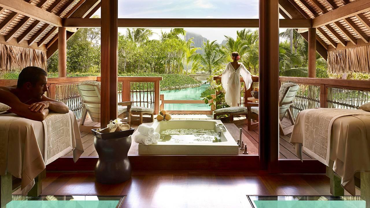 world of architecture four seasons bora bora french polynesia. Black Bedroom Furniture Sets. Home Design Ideas