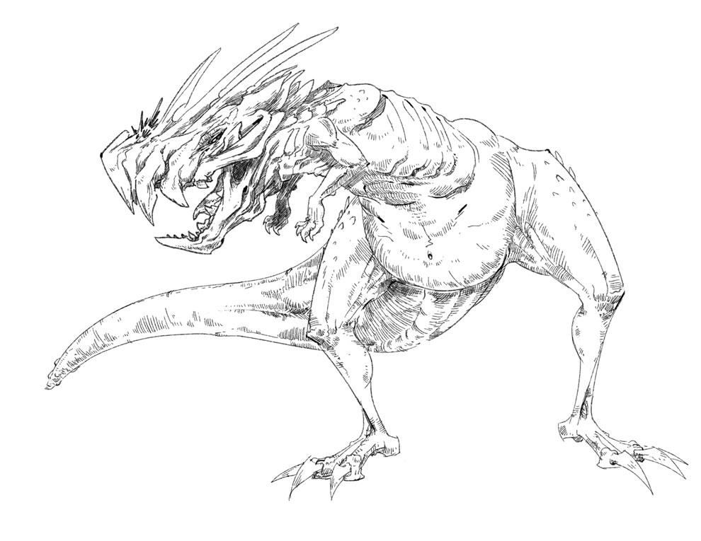 rico sketch  saurus sketch