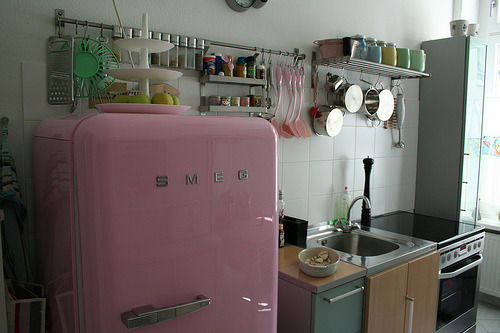 Smeg Fridge PinkSmeg Refrigerator Inside View