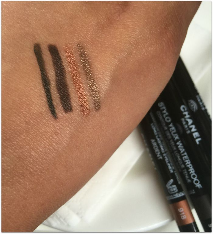 Chanel Stylo Yeux Waterproof liner Autumn 2015 Swatches