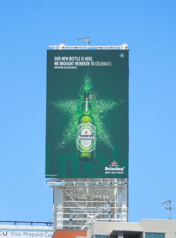 Celebrate Heineken Star Bottle billboard