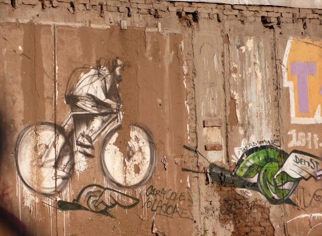 graffiti street art in santa isabel, santiago de chile