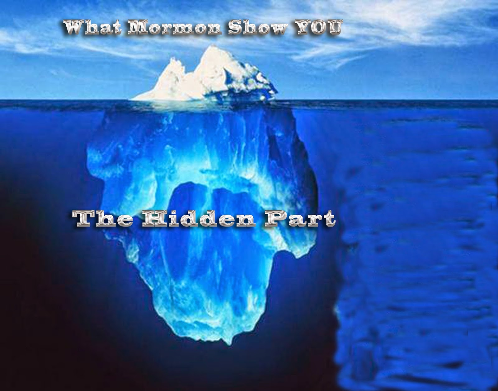 the truth about mormonism the iceberg principle appendix 1 understanding mormonism sandra and conrad sundholm