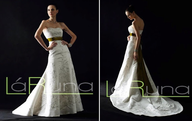 heart shape a line gown