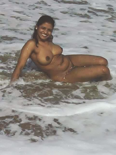 South Indian Wife Playing Nude In Beach