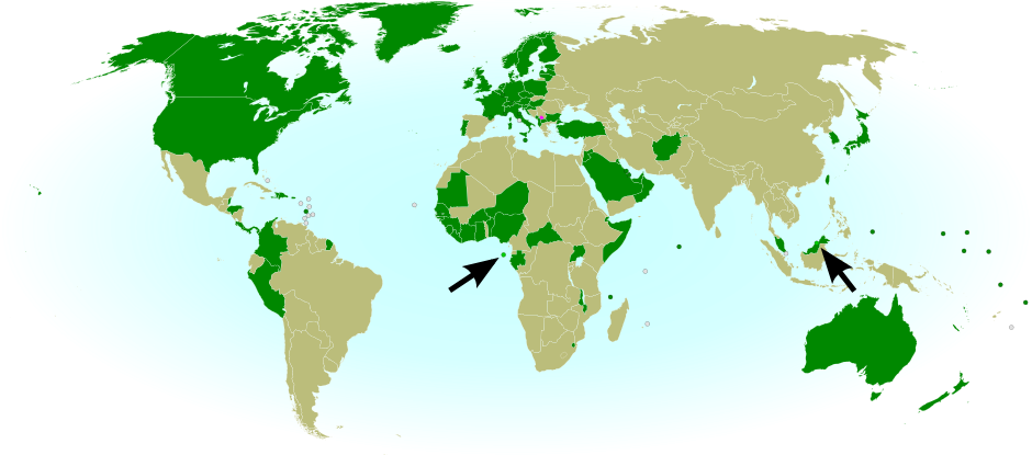 Kosovo recognition update total 90193 political geography now countries recognizing the republic of kosovo in green with arrows marking the two most recent so tom and prncipe left and brunei right gumiabroncs Image collections