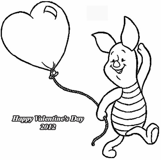 pooh valentines coloring pages - photo#4