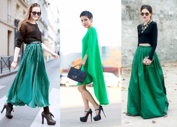 street style verde esmeralda