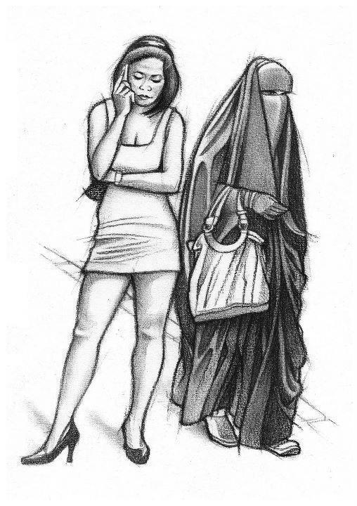 Ustazah vs Perempuan Tak Pakai Tudung