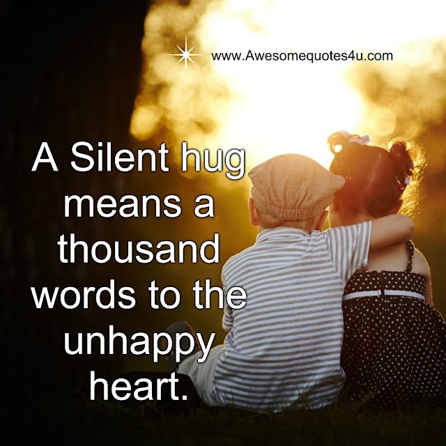 What Each Hug Means Quotes Awesome Quotes: A Sile...