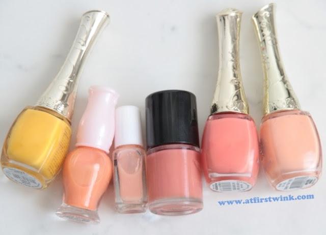 Orange nail polishes