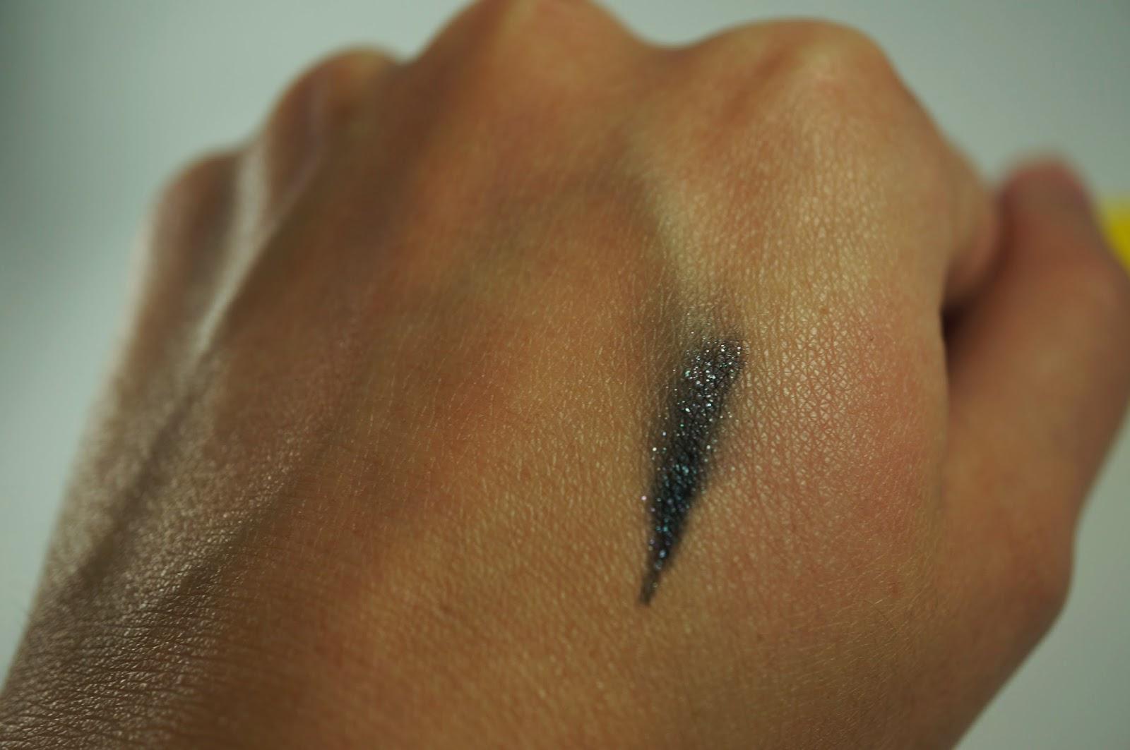 Memebox #25 Traveller's Traveler's Beauty Kit Unboxing Review ideeB Sweet Jelish Eyeliner Ultra Fine Pearl Black Swatch
