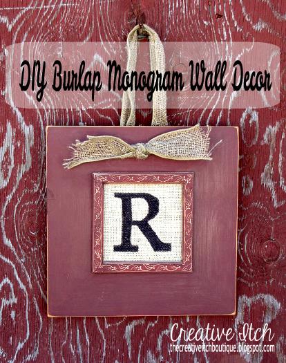 Monogram Wall Decor Diy : Creative itch diy burlap monogram wall decor