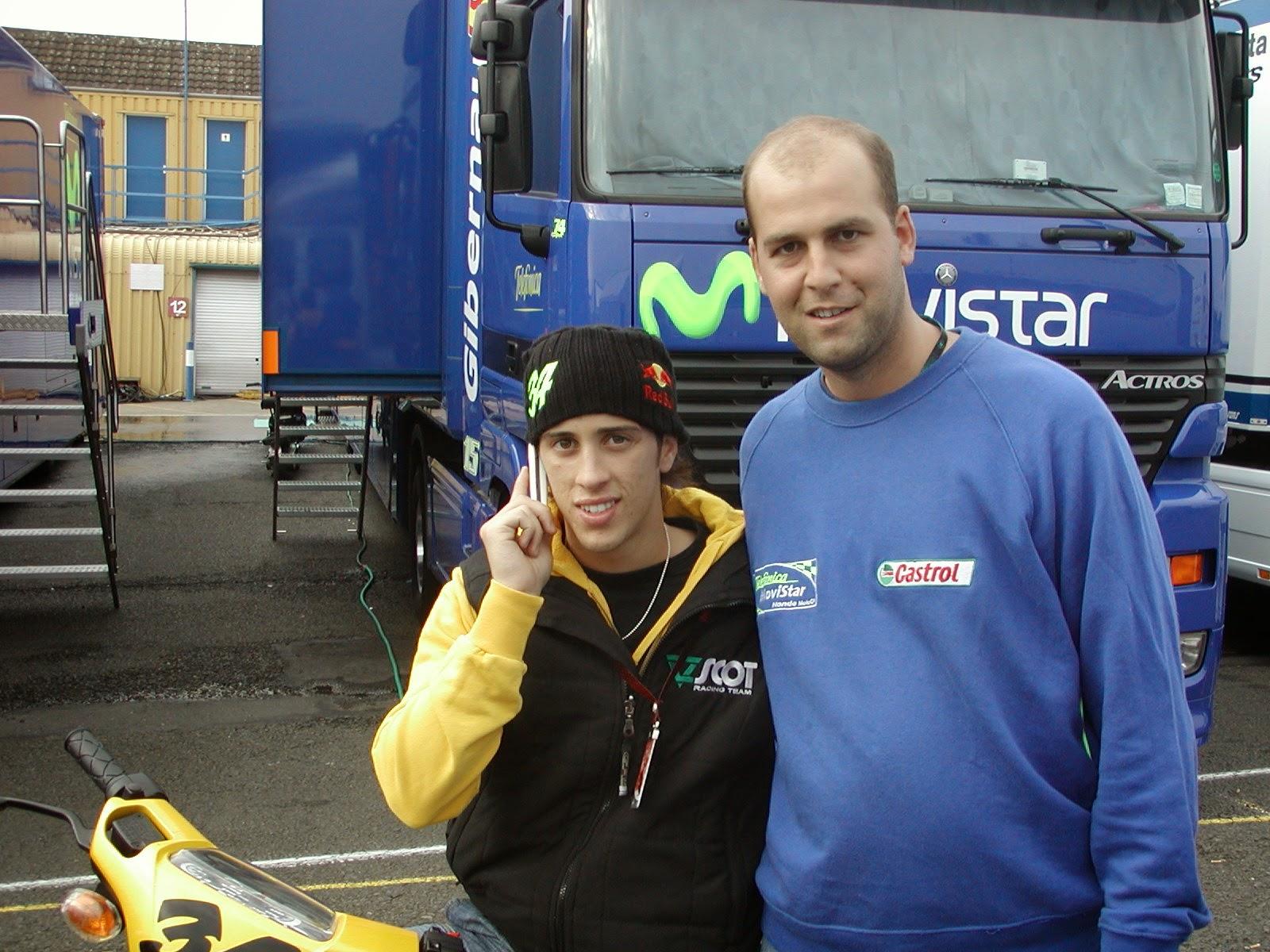 Andrea Dovizioso en el circuito de Donington Park