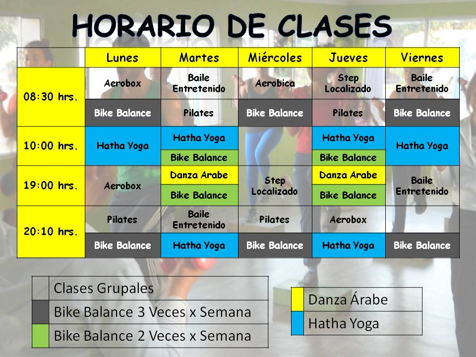 gimnasio balance la serena horario de clases