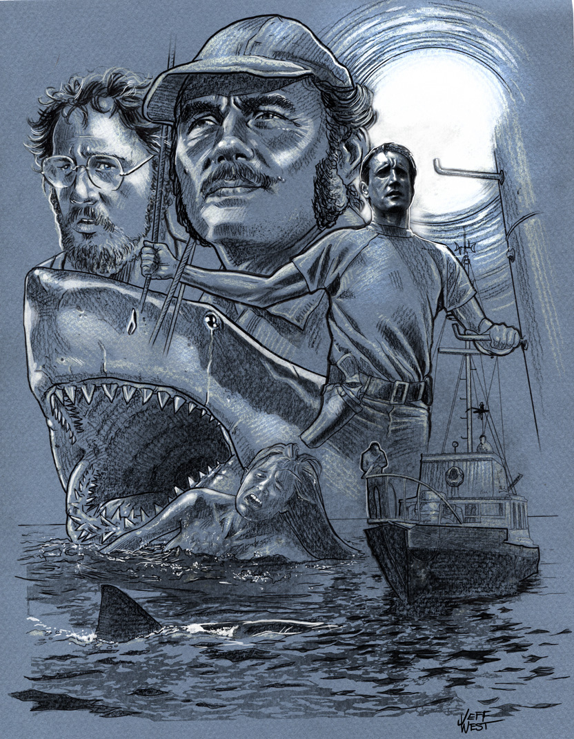 Jaws Book Cover Art : The art of jeff west jaws