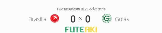 O placar de Brasília 0x0 Goiás pela segunda fase da Copa Sul-Americana 2015.