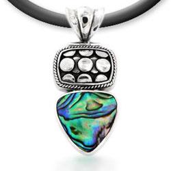 Paua Shell Silver Pendant
