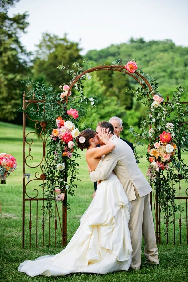 Whimsical Flower Arrangements for a Magic Wedding Altar Ceremony