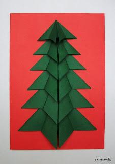 choinka z origami
