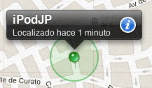 Ubicación del dispositivo en un mapa