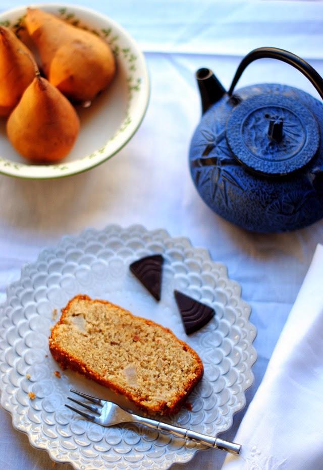 Almond Spelt Pear Cake