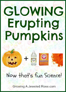 Glowing erupting pumpkins Halloween fun