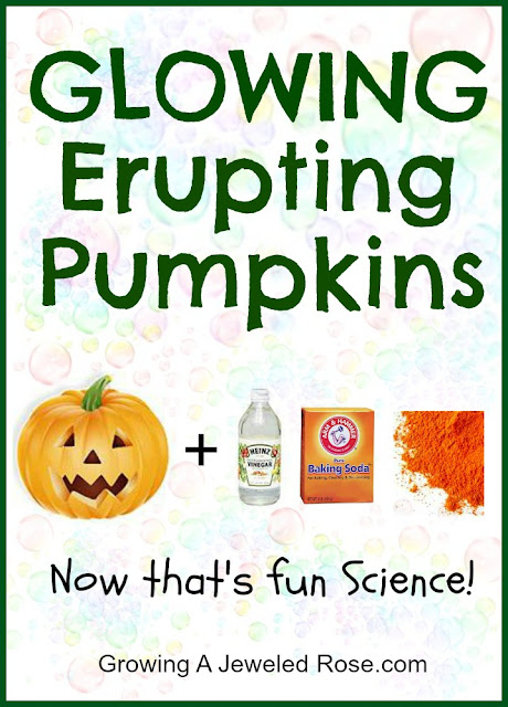 Glowing erupting pumpkins Halloween fun