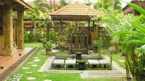 taman rumah dengan gazebo tukang taman jakarta